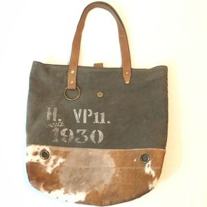 Myra bag leather | Hair on hide Tote